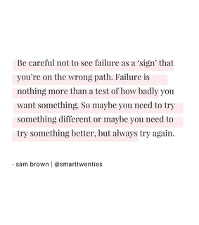 girls, try again and never give up