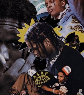 Collage, a$ap and aesthetic