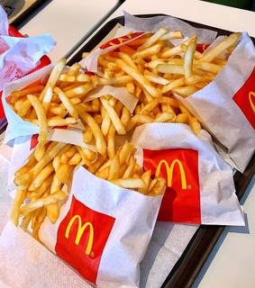 McDonald's, chips and food