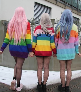 colors, wavy and color hair
