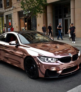 bmw m4, rose gold and rosegold car