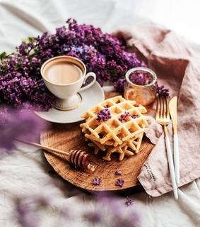 tea time, sweets and lilac