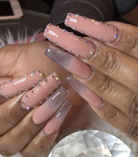 ombre nails, ombre and acrylic nails