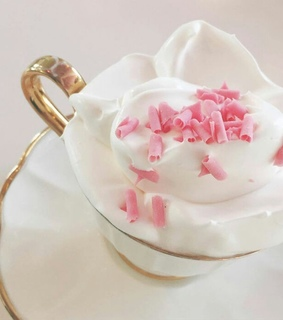 cup, whipped and pink