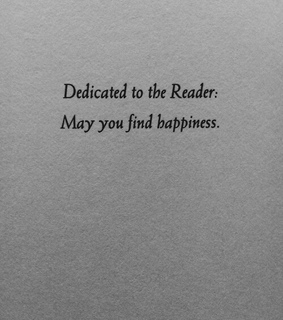book, thank you and happiness
