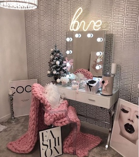 vanity, beauty room and makeup