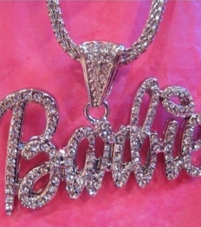 silver, rhinestones and pink