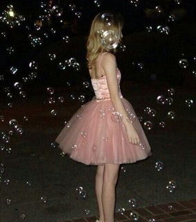 pink dress, pink and tumblr