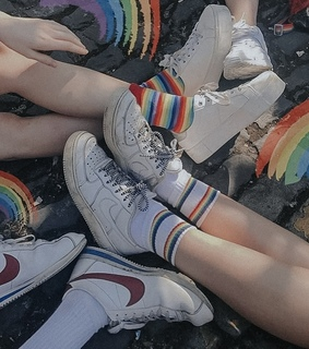 pride, rainbow and socks