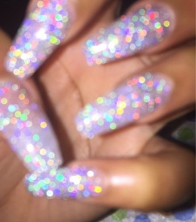 glitter, iridescent and holographic