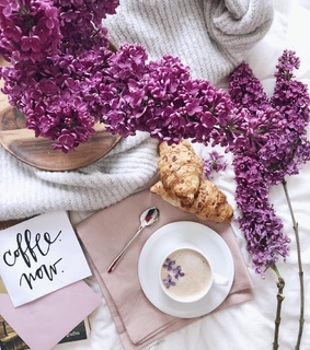 flowers, coffee and spring day