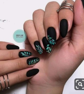 black nails, nails 2019 and nails art