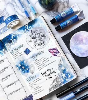 blues, writing and colors