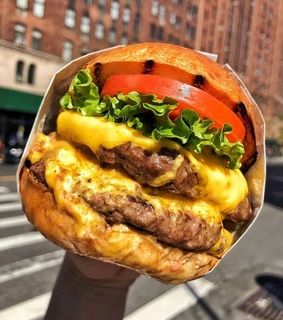 burger, cheddar and cheese