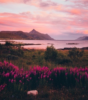 landscape, norway and sunset