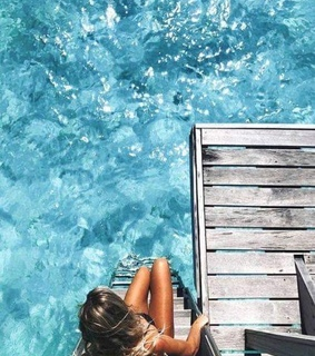 tan, summer and clear water