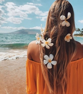 beach, flowes and girl