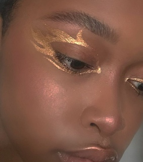 makeup, black girl and bronze