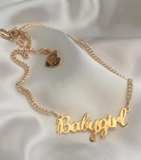 babygirl, chain and chain necklace