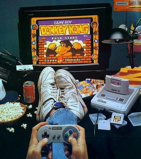 boy, donkey kong and game