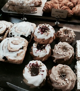 bakery, biscuits and cinnamon rolls