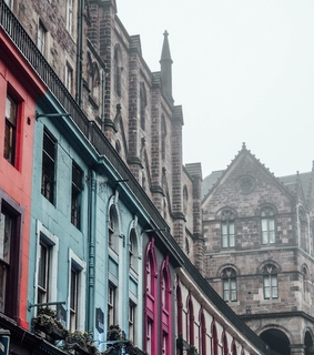 architecture, buildings and colorful