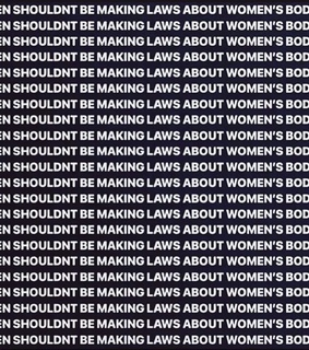abortion, laws and men shouldnt