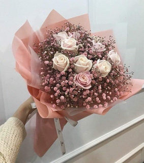aesthetic, flower bouquet and flowers