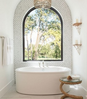 white, deco decorations and bath