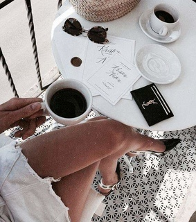 Yves Saint Laurent, accessories and coffee