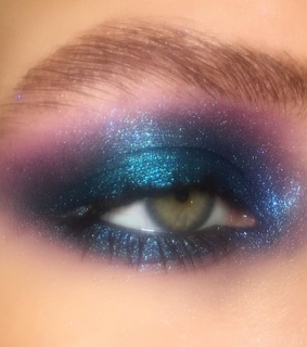 purple, eyeshadow and shimmer