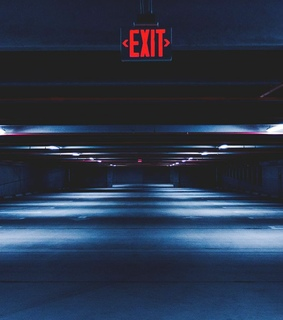 lights, wallpaper and exit