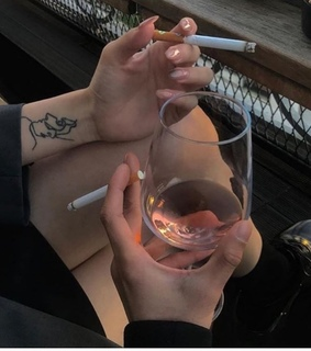 Tattoos, aesthetic and alcohol