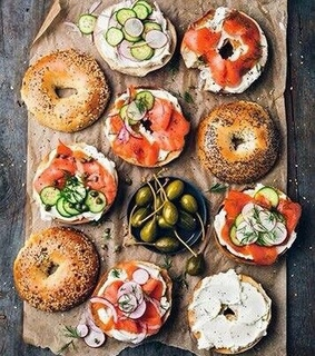 bagel, breakfast and delicious