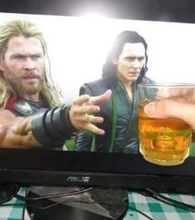 Marvel, beer and chris hemsworth