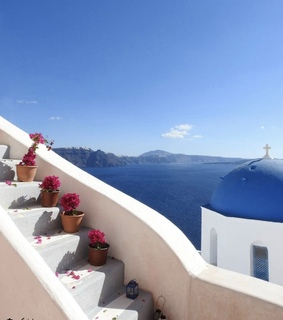Greece, architecture and blue