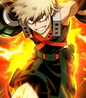 anime boy, kacchan and my hero academia