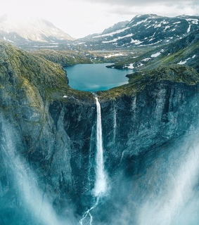 earth, high and waterfall