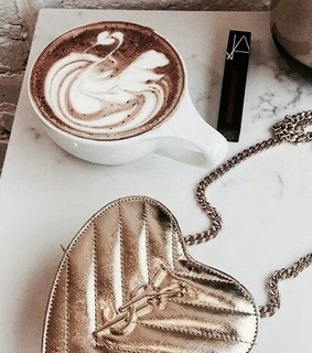 cafe, cappuccino and YSL