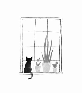 art, cactus and cat