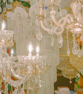 chandelier, fashion and florals