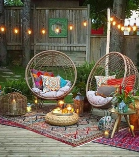 boho chic, outdoors and furniture
