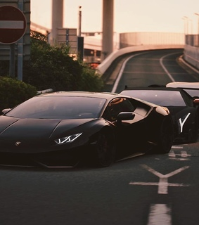 Lamborghini, auto and black