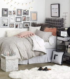 bedroom, dorm and glam