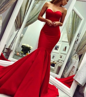 sweetheart neck dresses, strapless dresses and red dress