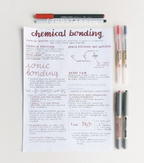 study, bullet journal and chemistry