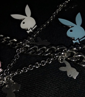 chains, hypebeast and Playboy