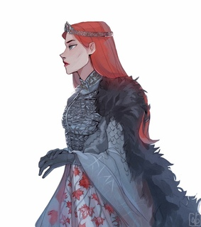 winter is coming, beautiful red hair girl and got
