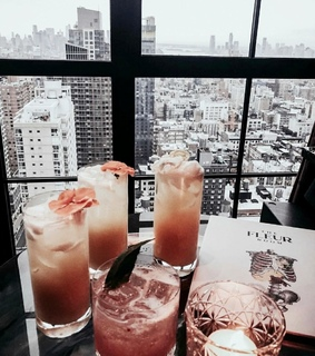 city, cocktail and drink