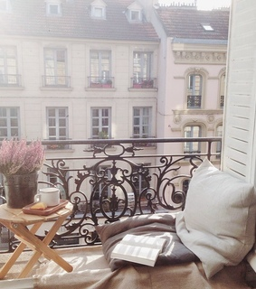 apartment, architecture and balcony